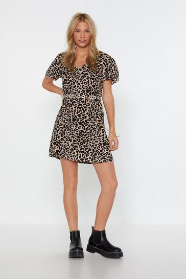 Womens Natural Don't Spot Dalmatian Mini Dress