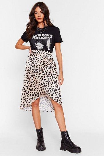 Beige Don't Spot Dalmatian Wrap Skirt
