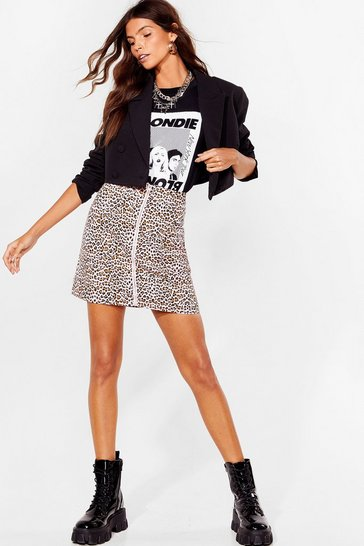 Tan Claw Breaker Leopard Mini Skirt
