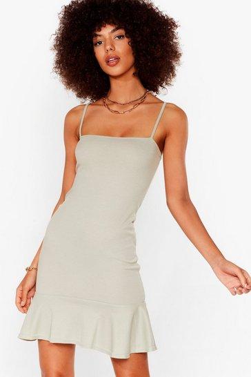 Sage Flip 'Em Off Mini Dress