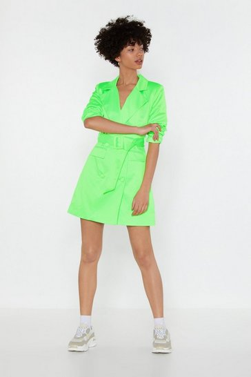 Womens Lime Trailblazer Belted Dress