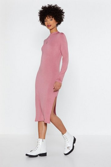 Womens Rose Number One Hit Bodycon Dress