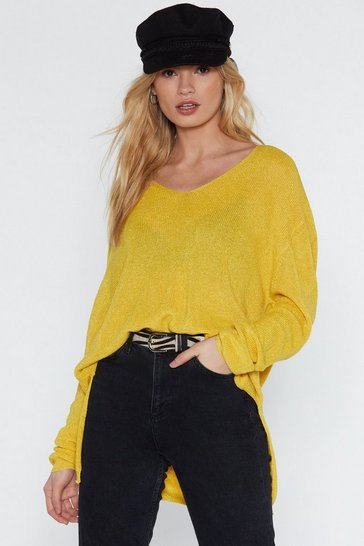 Womens Lemon Room for Activities V-Neck Sweater