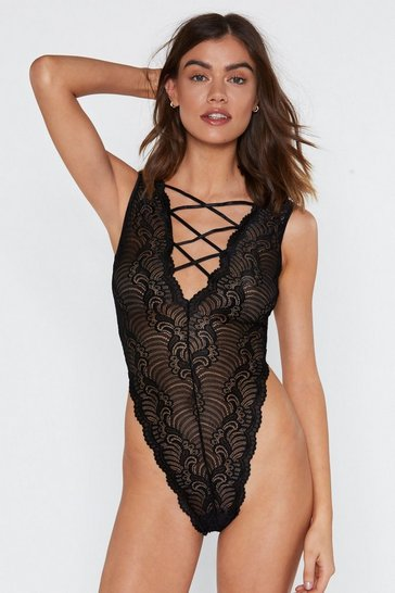 872f0889d High-Leg on Love Lace Bodysuit | Shop Clothes at Nasty Gal!