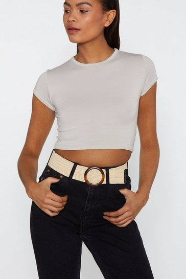 Natural Who the Shell Tortoiseshell Woven Belt