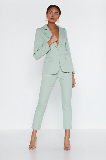 Womens Sage Cater to You Tailored Trousers