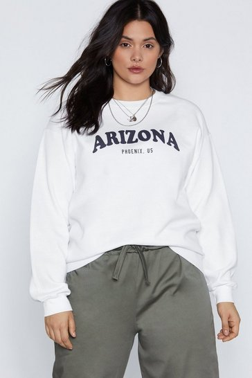 Womens White In the Arizona Graphic Sweatshirt