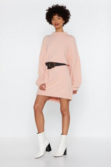 Womens Apricot Lose Touch Oversized Jumper Dress
