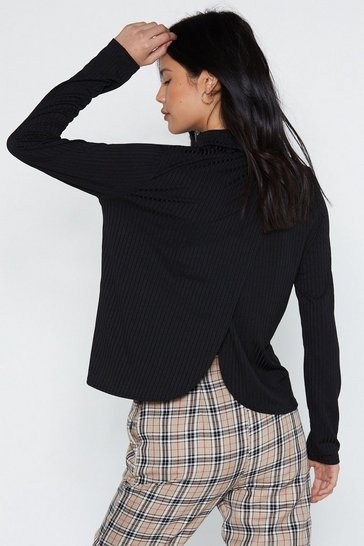 Womens Black As Good Turtleneck Jumper