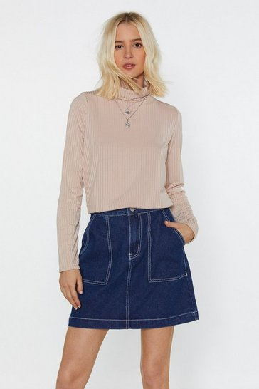 Womens Stone As Good Turtleneck Jumper