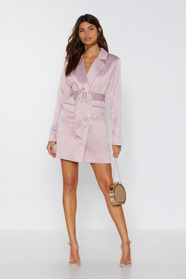 Womens Mauve Powers That Be Blazer Dress