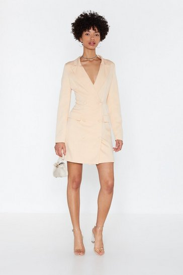 Womens Ivory I'm Busy Blazer Dress
