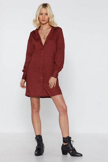 Womens Biscuit Long Story Shirt Linen Shirt Dress