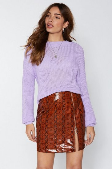Womens Lilac Got Knit All Relaxed Jumper