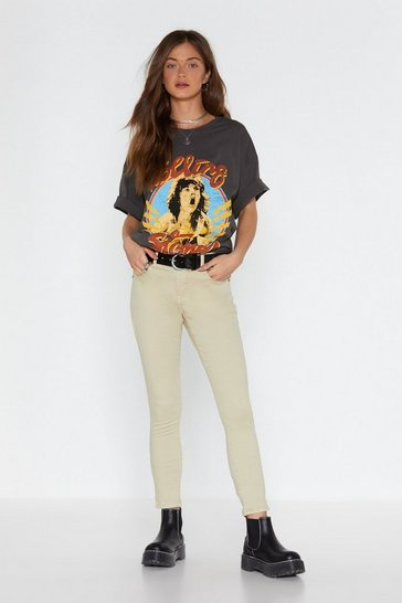 Womens Beige Close to You Skinny Jeans