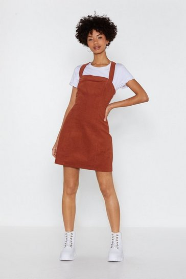 Rust Play Date Corduroy Pinafore Dress