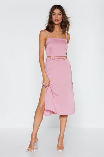 Womens Rose Another Classic Midi Dress