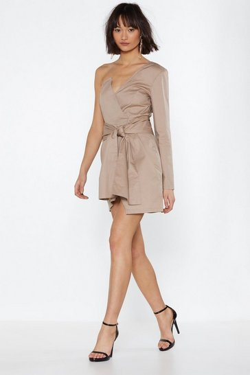 Womens Stone Kinda Into It One Shoulder Dress