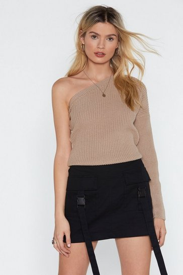 Womens Stone The One I Love One Shoulder Jumper