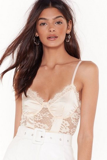 Nude You Haven't Seen the Lace of Me Bodysuit