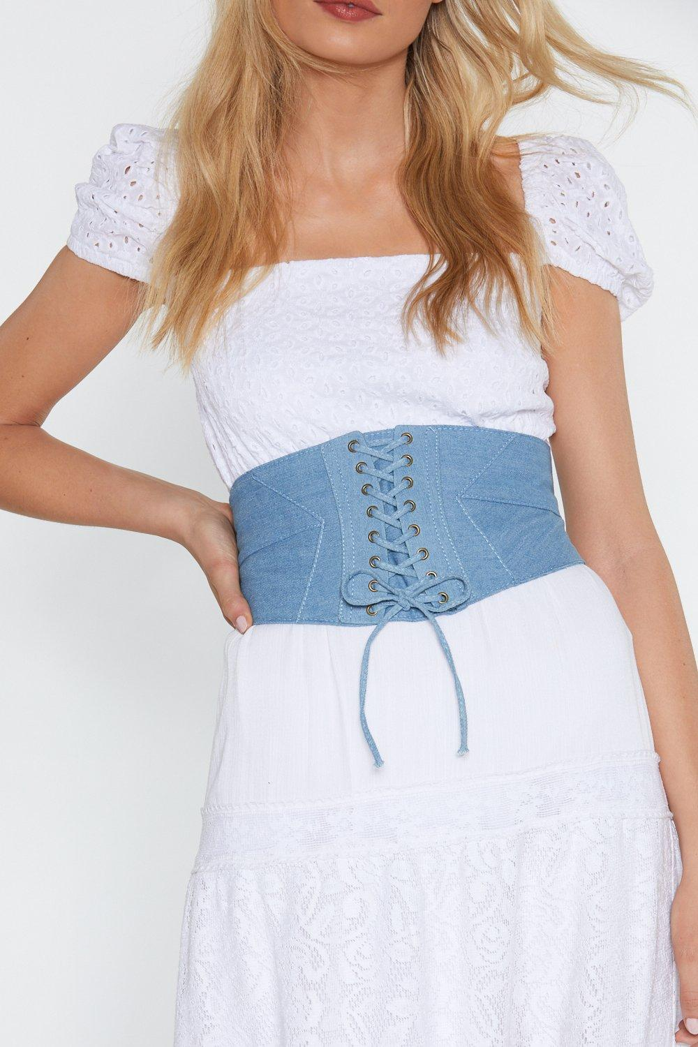 Ready Corset Go Chambray Belt by Nasty Gal