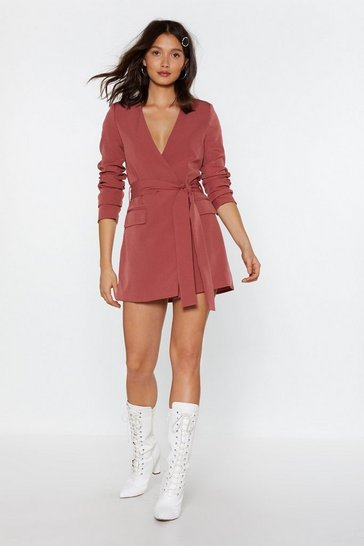 Womens Rose pink Great Minds Blazer Dress