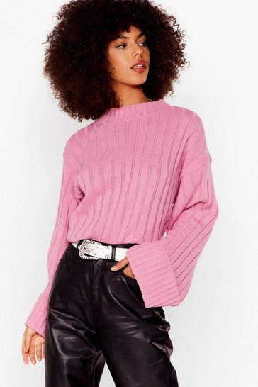 Pink Warm Up Mock Sweater