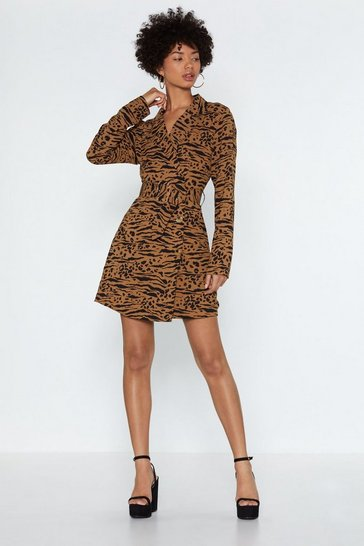 Womens Natural Wild Side Blazer Dress