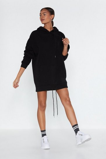Womens Black As Easy As That  Hoodie Dress