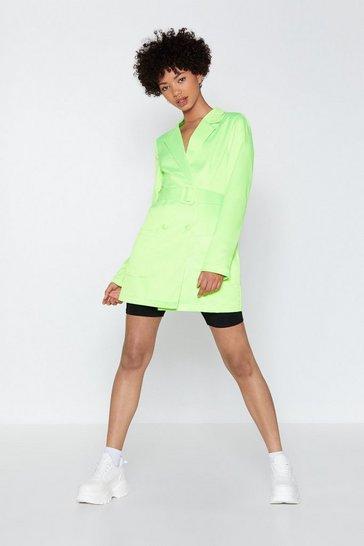 Green Such a Hell Blazer Dress