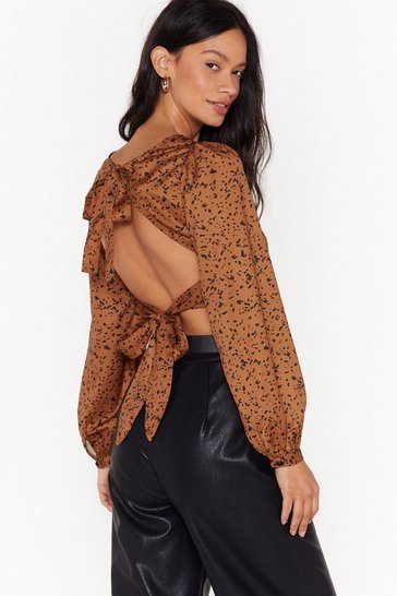 Rust Just a Splash of This Cropped Blouse