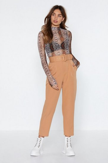 Womens Stone Hit Top Gear Belted Trousers