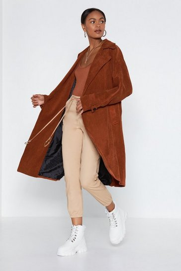 Womens Rust Cover Story Trench Coat