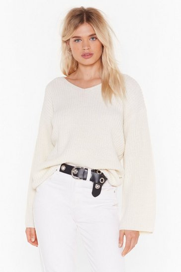 Oatmeal Knit My Problem Relaxed Sweater