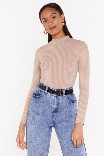 Stone Go For Knit Ribbed Jumper