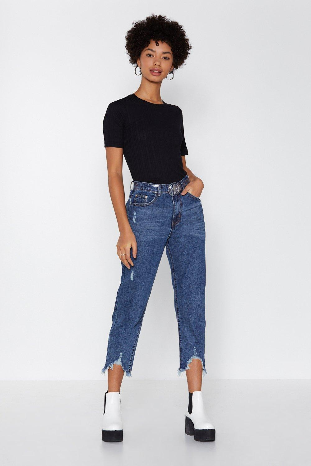 In The Fray Mom Jeans by Nasty Gal