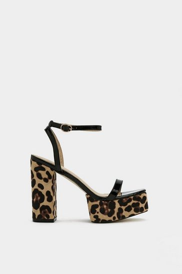 Womens Brown The Art of Purr-suasion Leopard Sandal