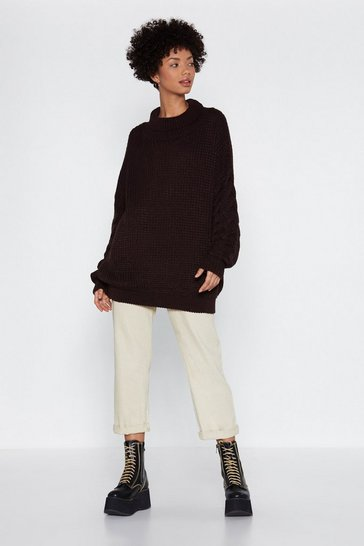 Chocolate Warm Your Heart Oversized Sweater