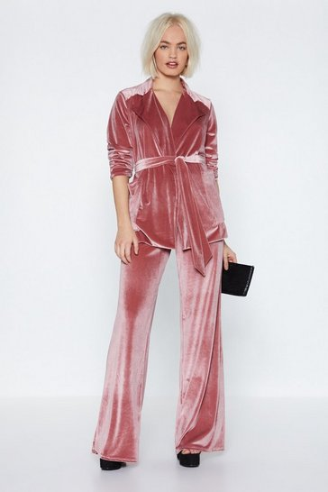 Womens Rose Get a Load of This Velvet Trousers