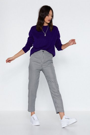 Womens Black We Hound Love Houndstooth Pants