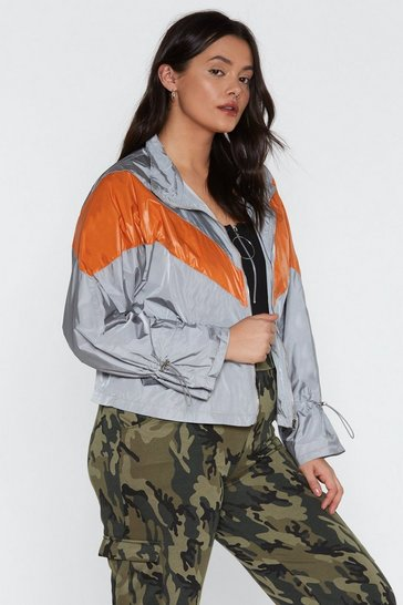Womens Grey She's Like the Windbreaker Jacket