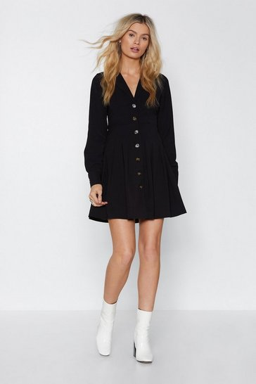 Black Boogie On Button-Down Dress