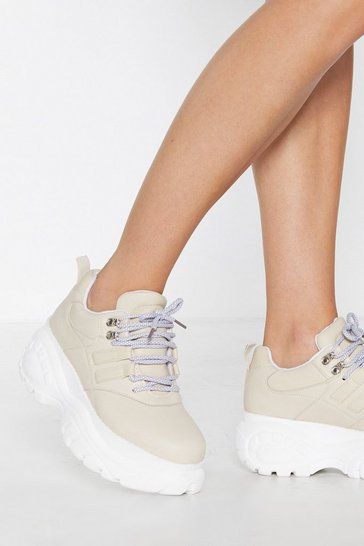 Womens Beige Got Sole Platform Sneaker
