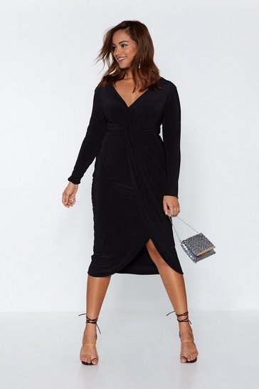 Black Hold Me Close Midi Dress