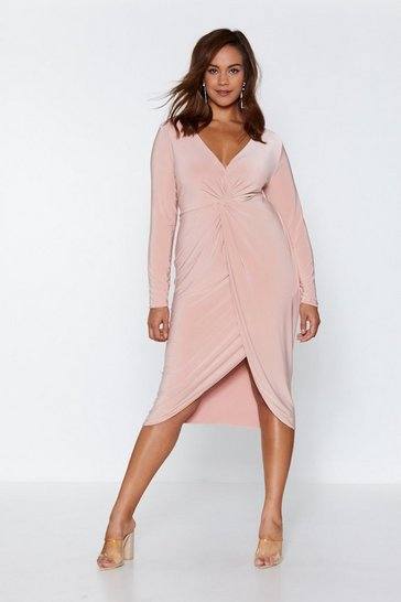 Womens Rose Hold Me Close Midi Dress