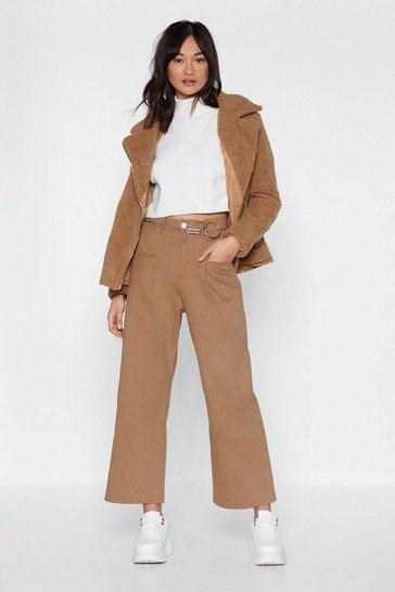 Womens Sand Utility Got This Wide-Leg Pants