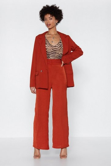 Womens Terracotta Is There Ever a Wide Time Pants