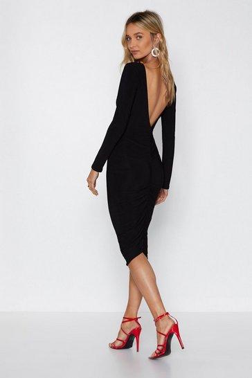Black I Want You Back Midi Dress