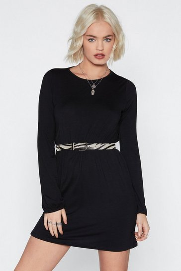 Womens Black After Hours Mini Dress