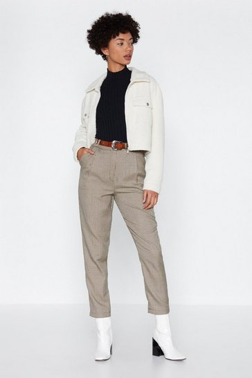 Womens Brown The Tooth Hurts Tapered Pants